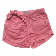 Shorts Jeans Infantil Feminino Toffee Cor Rosa - 6 a 9 meses