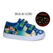 Tênis Infantil Baby Soft Luna Sugar Shoes Cor Azul - Nº25