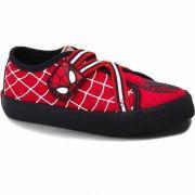 Tênis Infantil Canvas Velcro Masculino Homem Aranha Sugar Shoes Tamanho Nº30