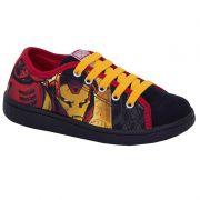 Tênis Infantil Homem de Ferro Vingadores Sugar Shoes Tamanho N°23