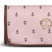 Trocador Portátil Navy Sarja Classic for Bags Cor Rosa