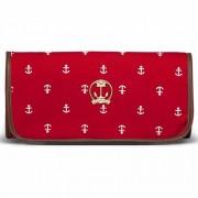 Trocador Portátil Navy Sarja Classic for Bags Cor Vermelho