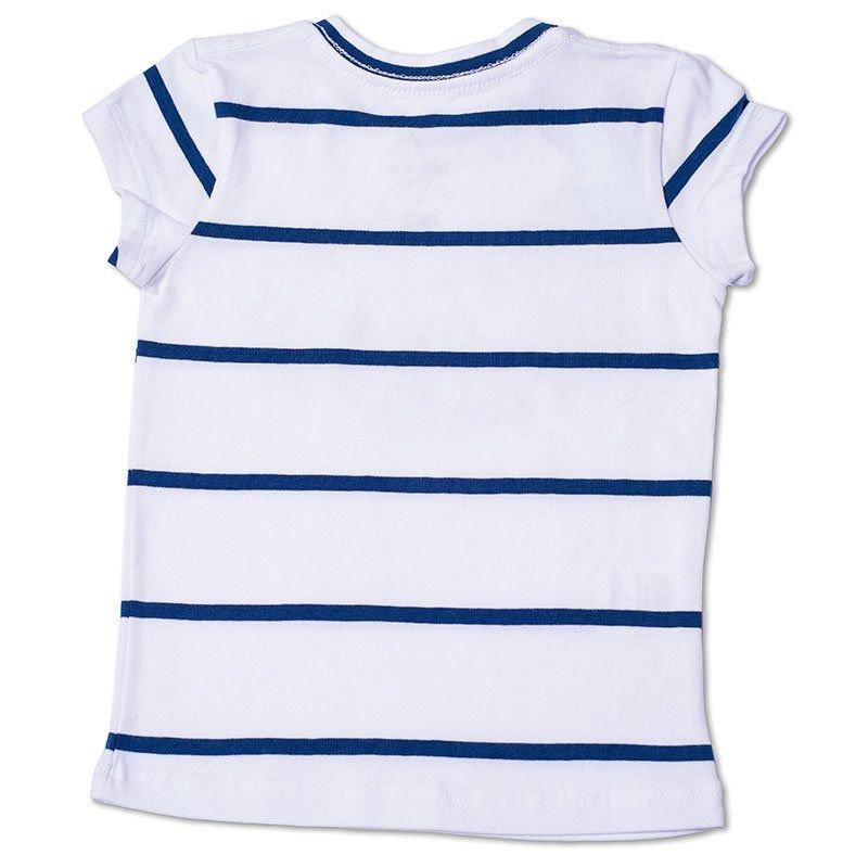 Baby Look Infantil Listrada com Arte Toffee Cor Branca - Nº01