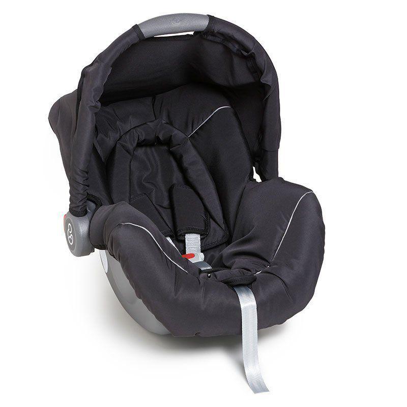 Bebê Conforto Piccolina Galzerano Cor Preto e Cinza