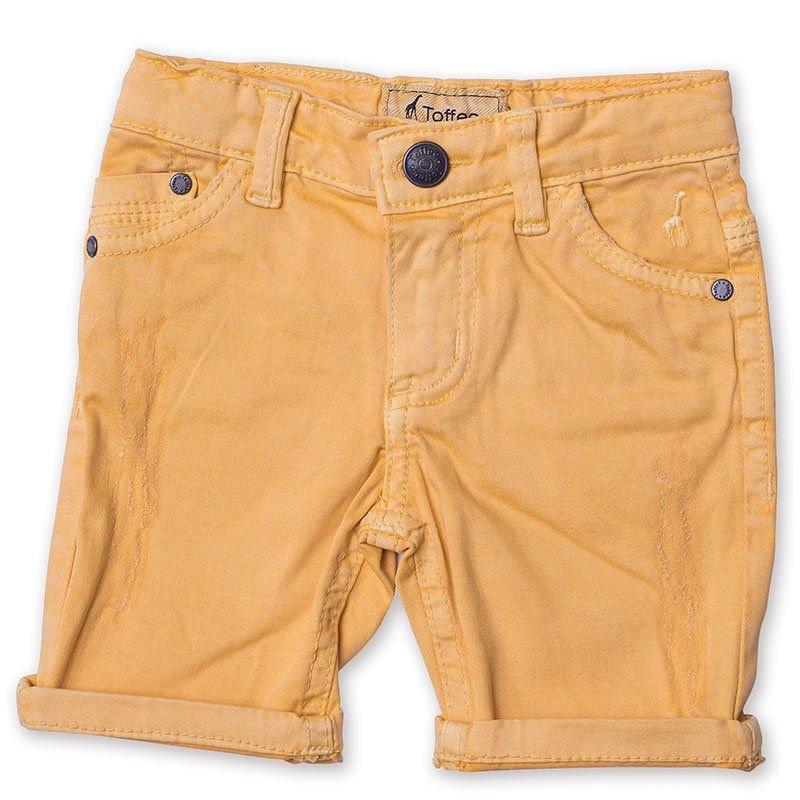 Bermuda Jeans Infantil Masculina Amarela Toffee - Nº01