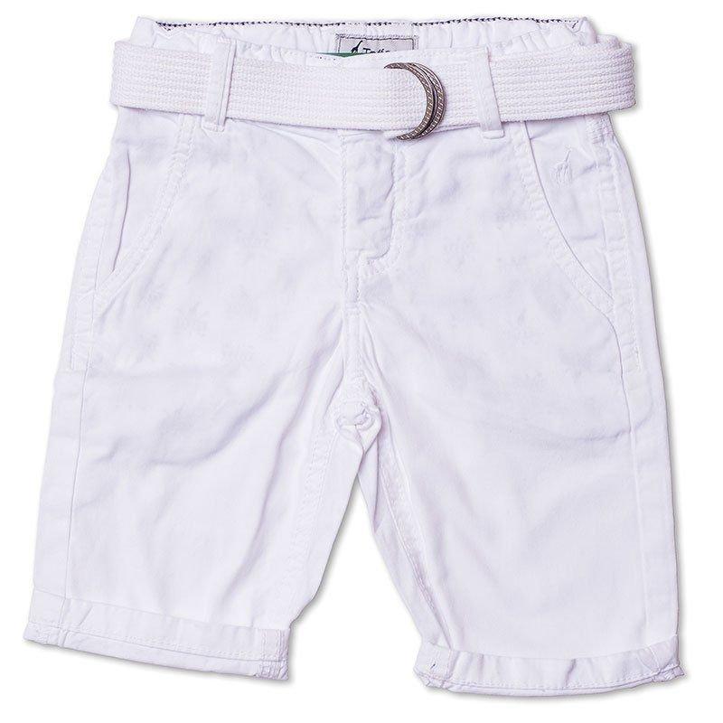 Bermuda Jeans Infantil Masculina Toffee Branca Tamanho Nº1