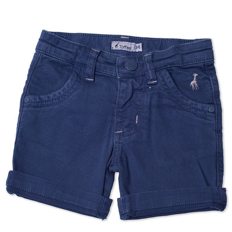 Bermuda Jeans Infantil Masculina Toffee Cor Azul Marinho - Nº01