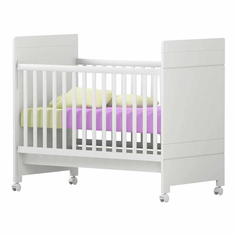 Quarto de Bebê Modulado Delicato 8 Portas Branco Brilho - Matic