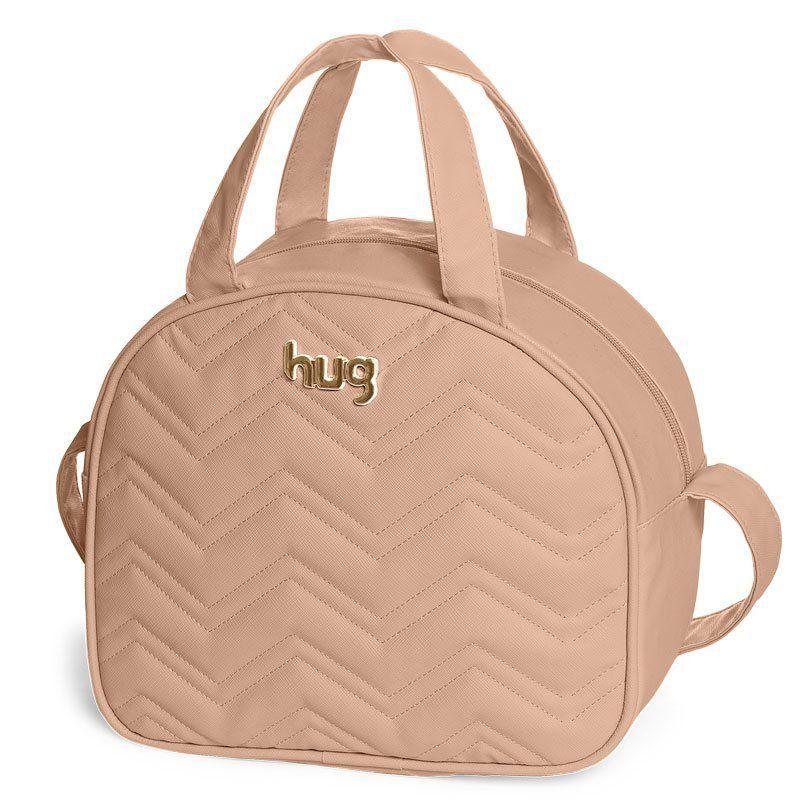 Bolsa Chevron Kit 2 Peças Hug Cor Bege
