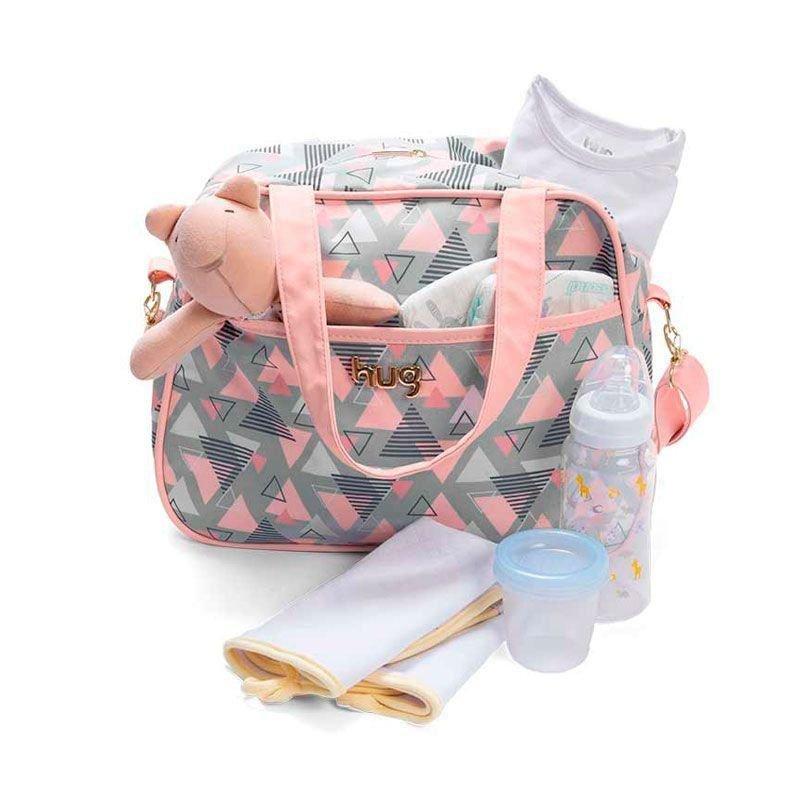Bolsa Kit 2 Peças Maternidade Madri Hug Cor Rosa