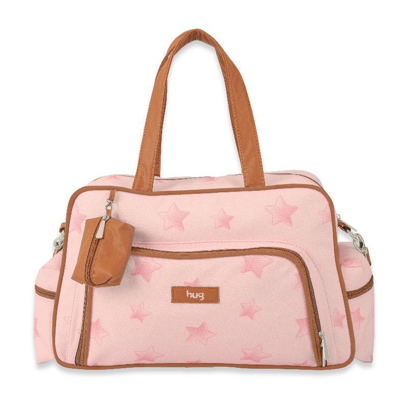 Bolsa Maternidade Céu Estrelado Hug Cor Rosa
