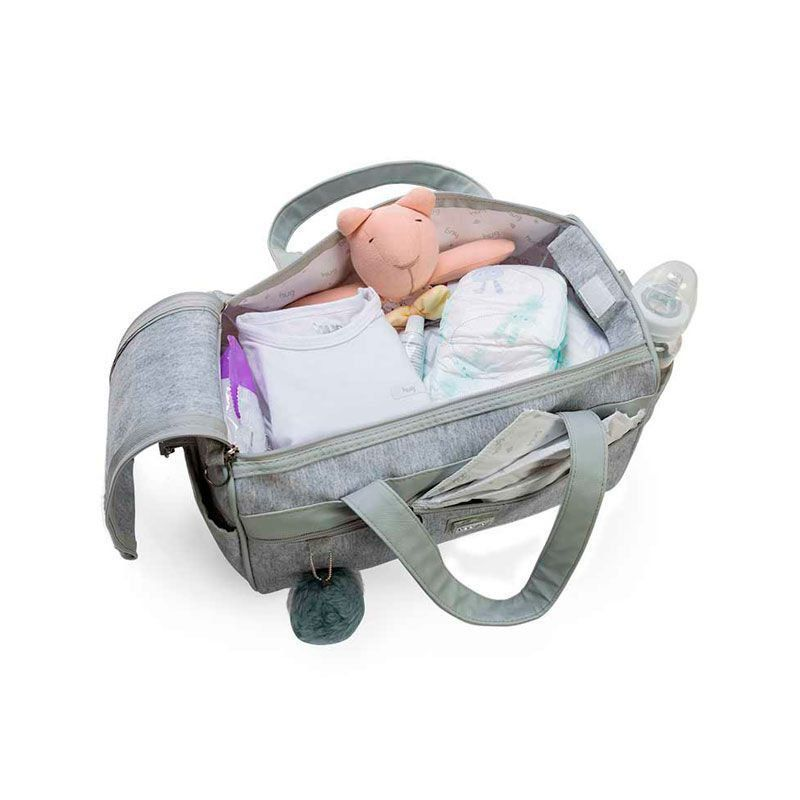 Bolsa Maternidade Kit 2 Peças Barcelona Hug Cor Cinza