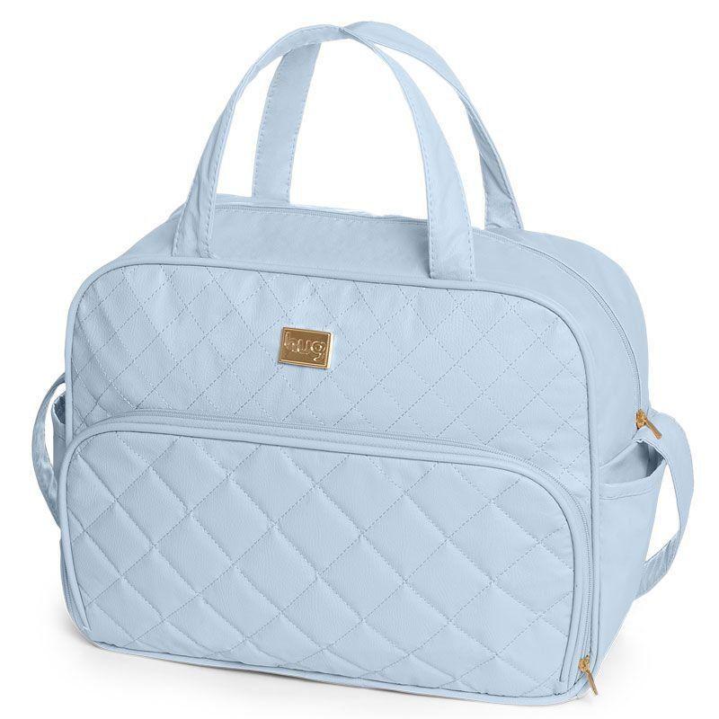 Bolsa Maternidade Kit 2 Peças Matelassê Hug Cor Azul Bebê