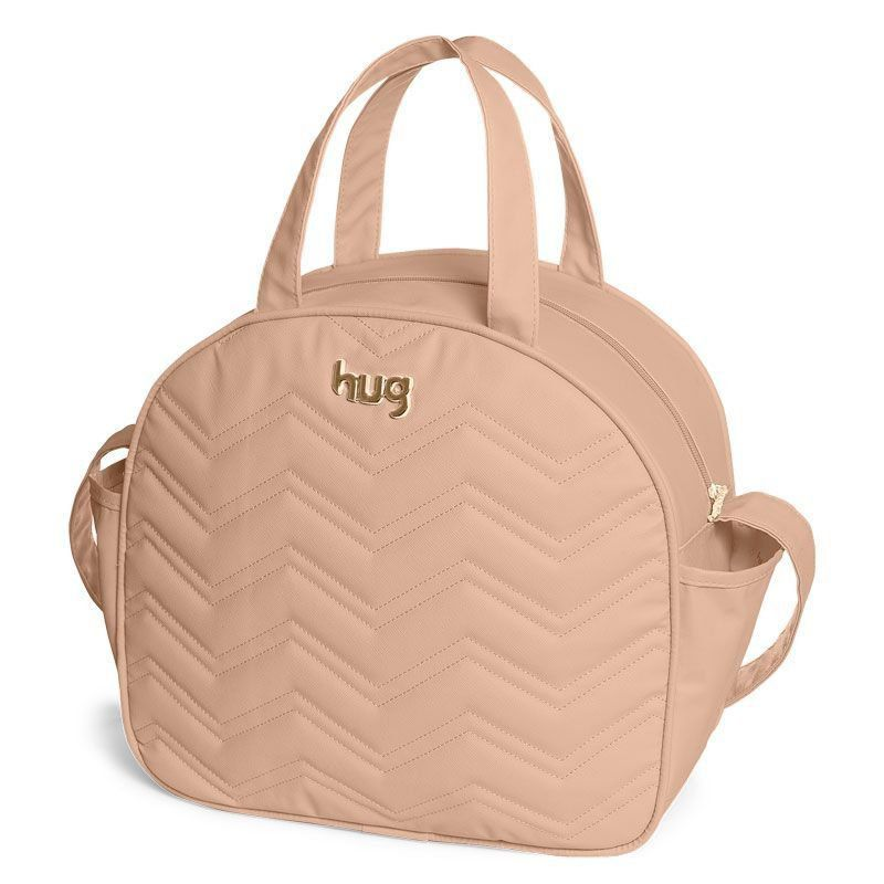 Bolsa Maternidade Kit 3 Peças Chevron Hug Cor Bege