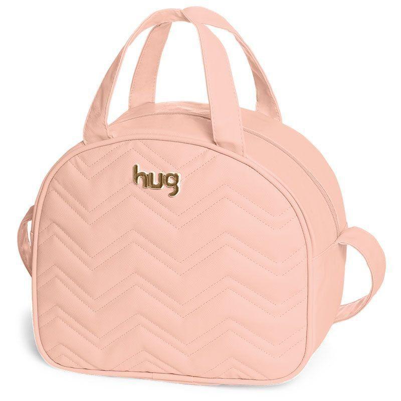Bolsa Maternidade Kit 3 Peças Chevron Hug Cor Rosa
