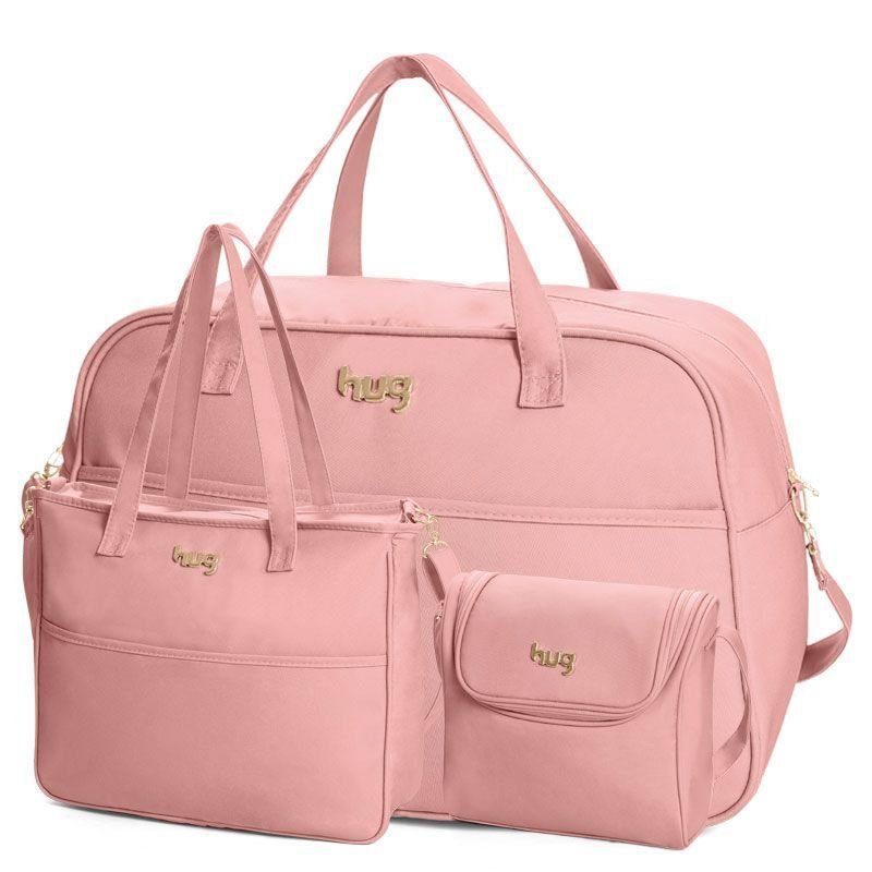 Bolsa Maternidade Kit 3 Peças Classic Hug Cor Rosa