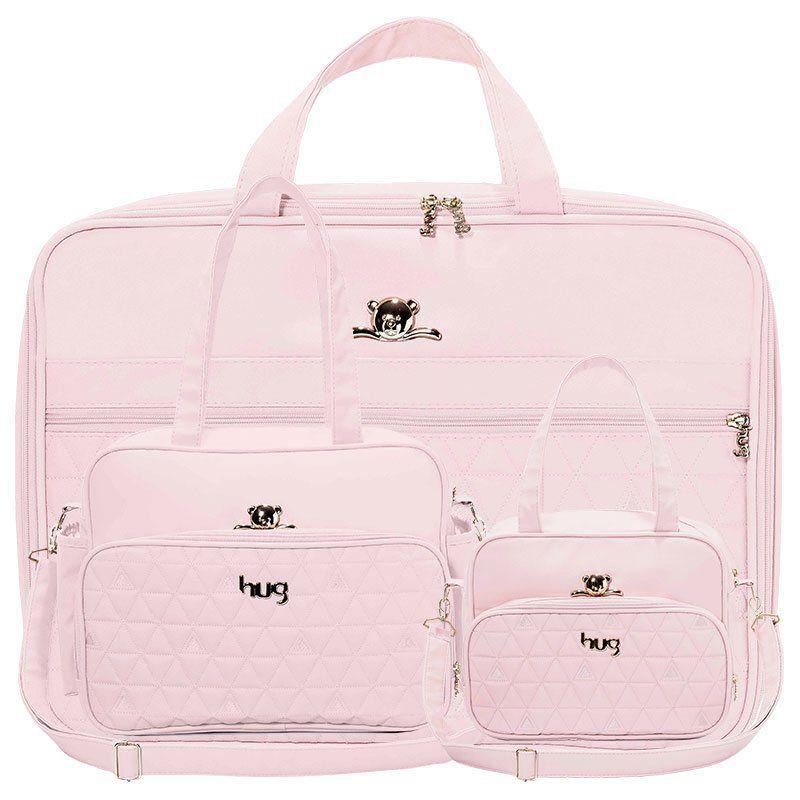 Bolsa Maternidade Kit 3 Peças Docinho Hug Cor Rosa
