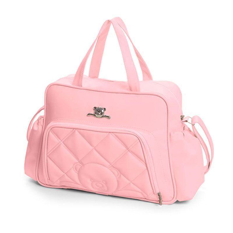 Bolsa Meu Ursinho Kit 3 Peças Hug Cor Rosa