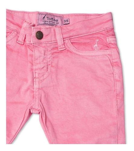 Calça Jeans Infantil Feminina Rosa Toffee - Nº0 a 3 meses