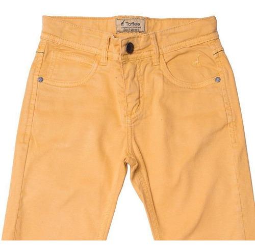 Calça Jeans Infantil Masculina Mostarda Toffee - Nº01