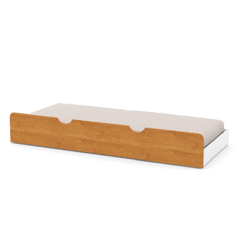 Cama Auxiliar Infantil Matic Cor Branco Soft/Freijó