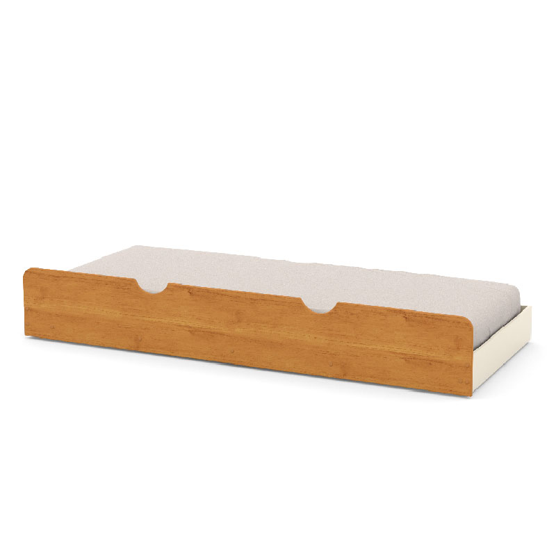Cama Auxiliar Infantil Matic Cor Off White/Freijó