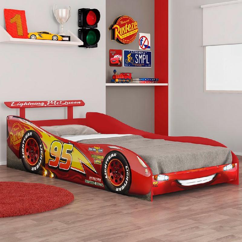 Cama infantil Carros Plus Vermelho Pura Magia