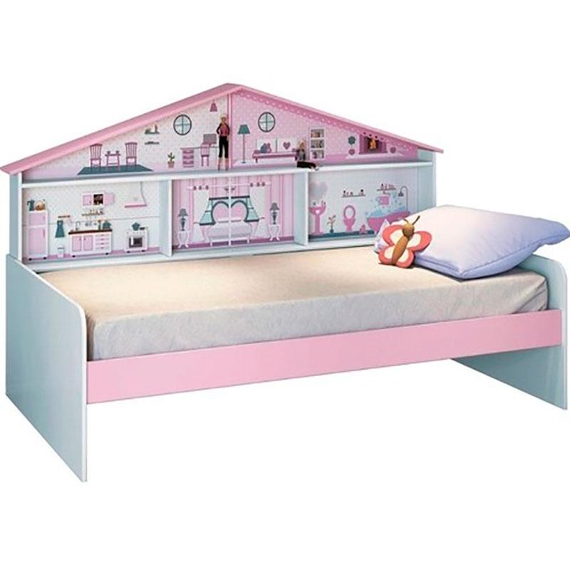 Cama Infantil Casa de Boneca Diversão Rosa Pura Magia