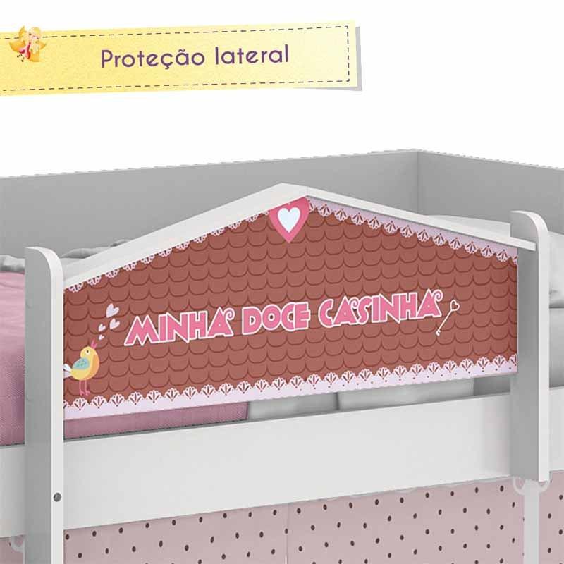Cama Infantil Doce Casinha Play Pura Magia Cor Branco Brilho