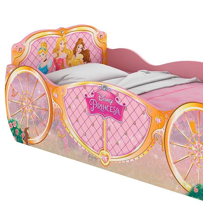 Cama Infantil e Cômoda Infantil Princesas Disney Star Pura Magia