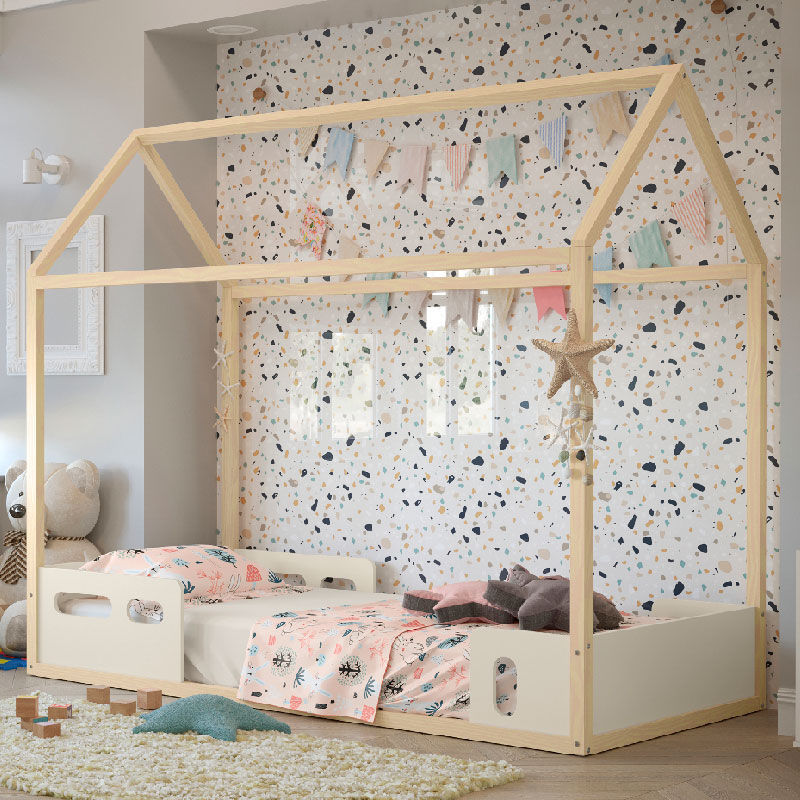 Cama Infantil Liv Matic Cor Off White/Natural