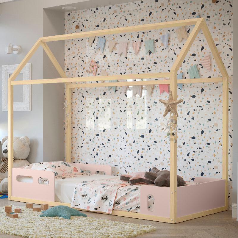 Cama Infantil Liv Matic Cor Rosê/Natural