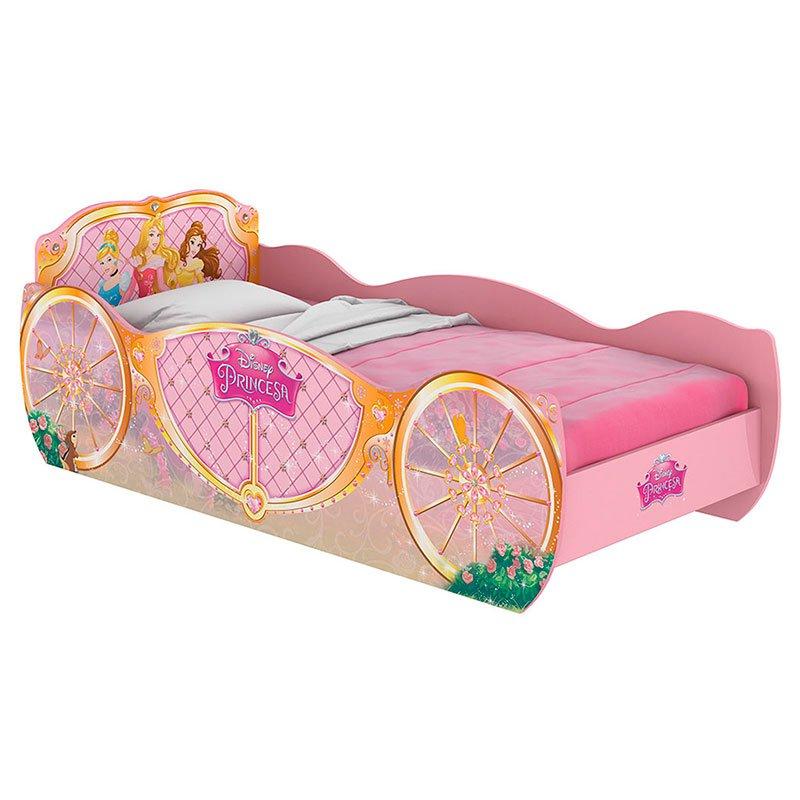 Cama Infantil Princesas Carruagem Star Rosa Pura Magia Cor Rosa