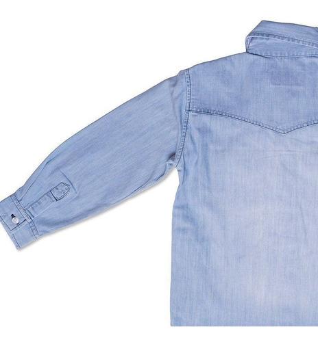 Camisa Infantil Jeans Toffee Cor Jeans - Nº01