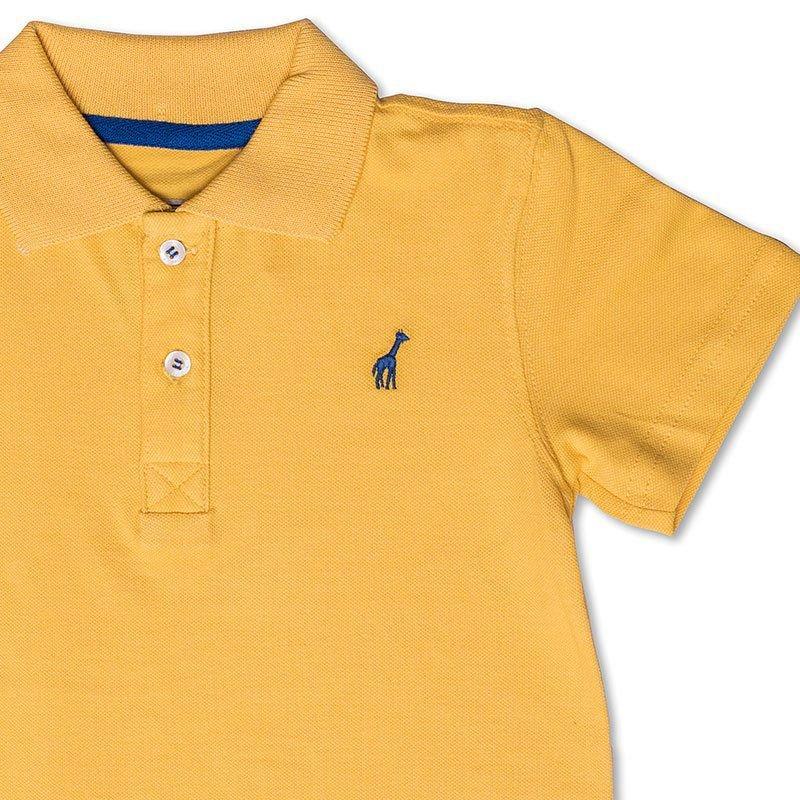 Camiseta Polo Infantil Amarela Toffee