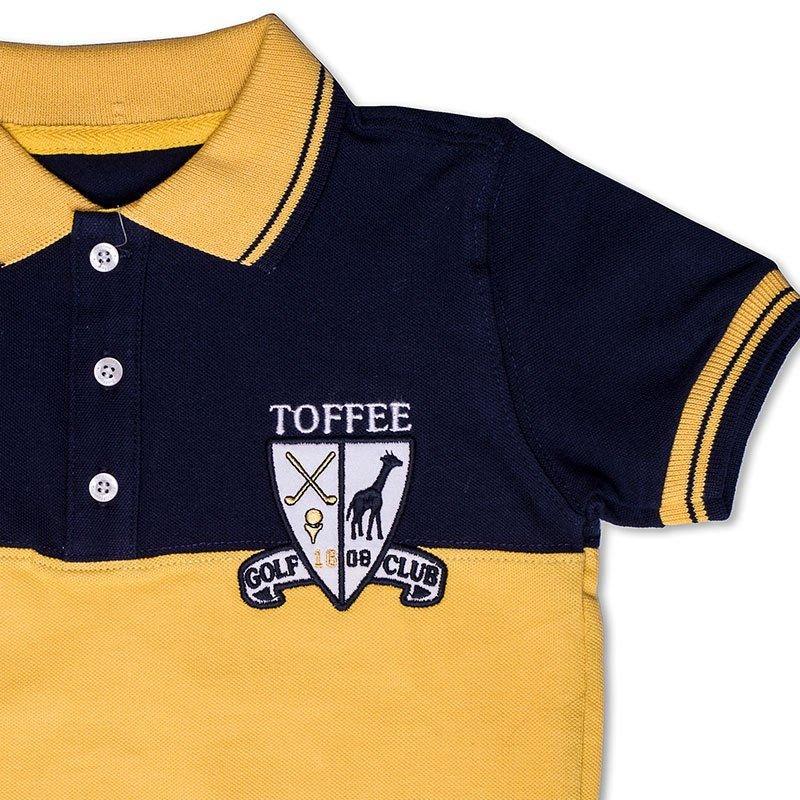 Camiseta Polo Infantil Azul Marinho Toffee - Nº01