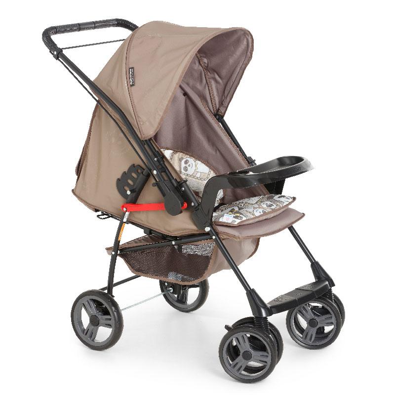 Carrinho de Bebê Milano Reversível II Galzerano Preto/Panda