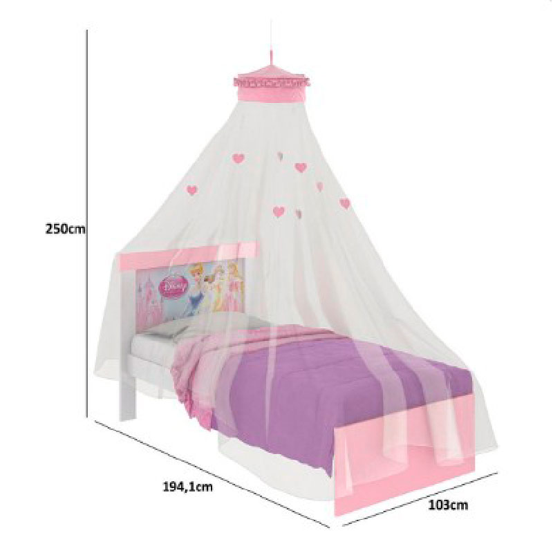 Dossel de Teto para Cama Infantil Móveis Estrela Branco/Rosa
