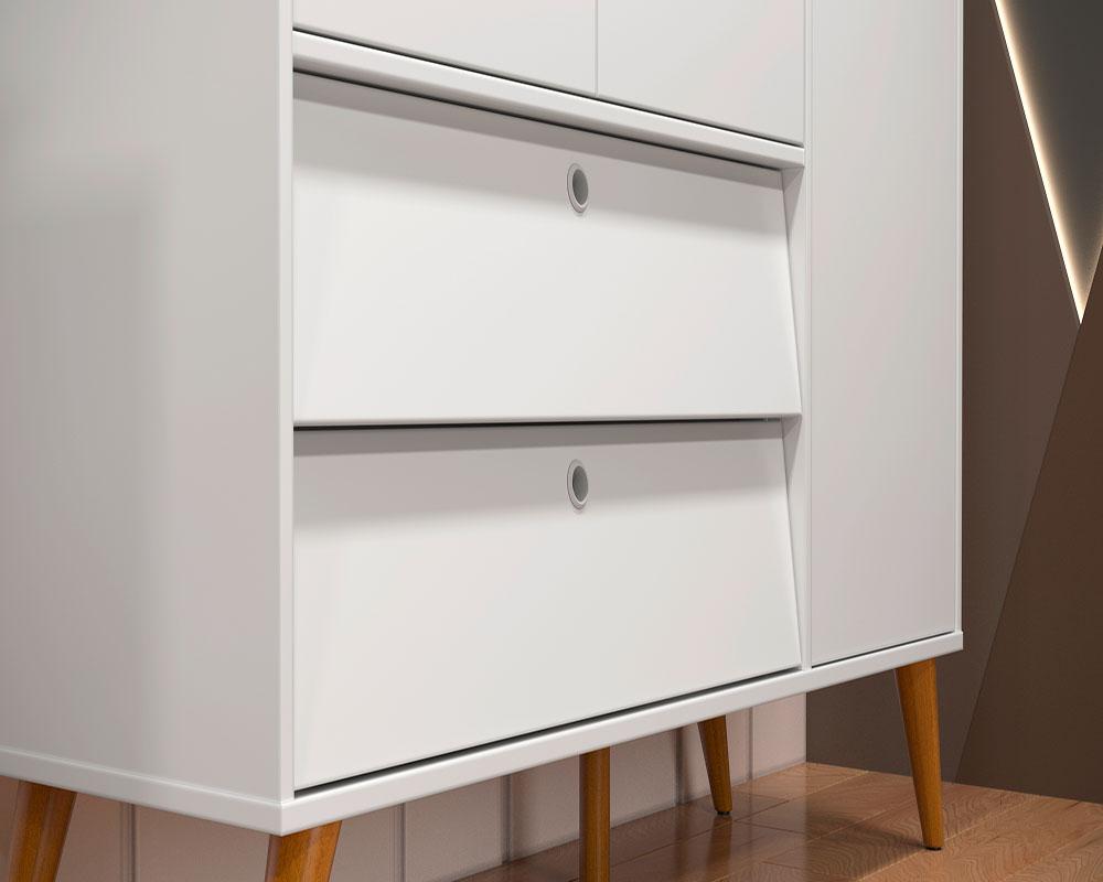 Guarda Roupa 3 Portas Gold Matic Branco Soft/Eco Wood