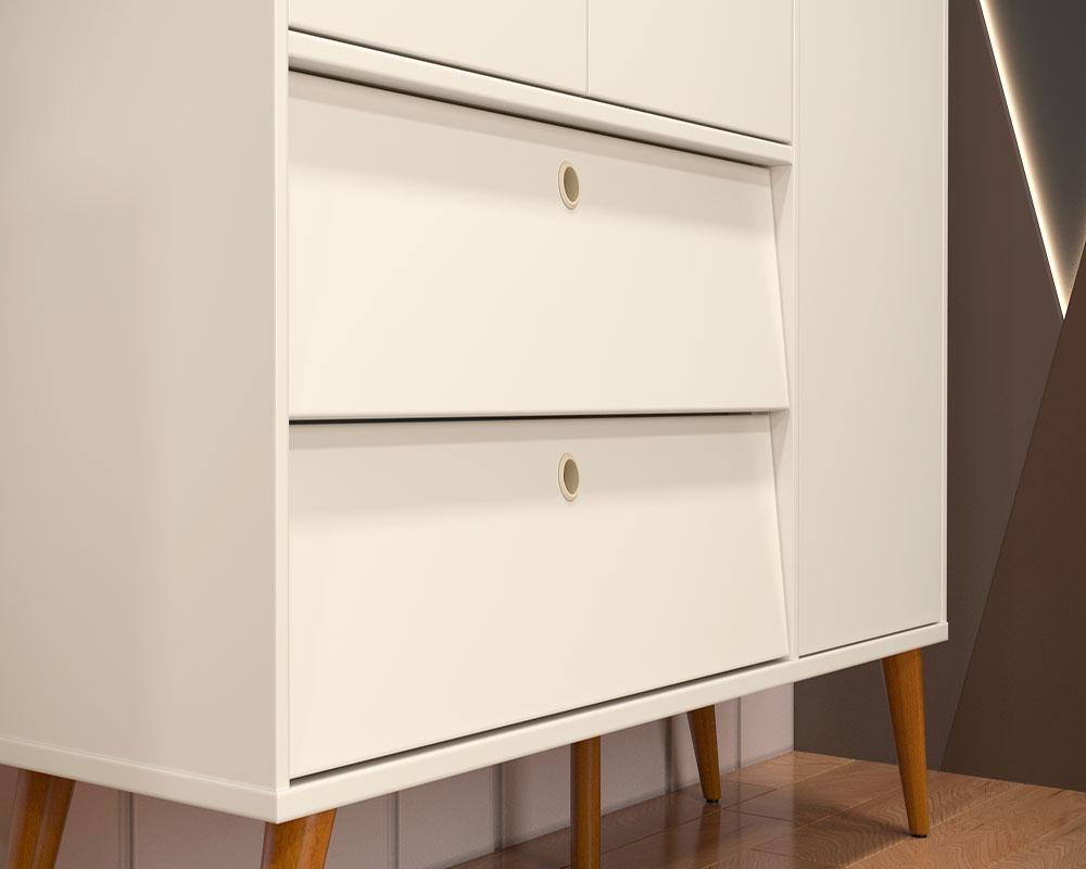 Guarda Roupa 3 Portas Gold Matic Off White/Eco Wood