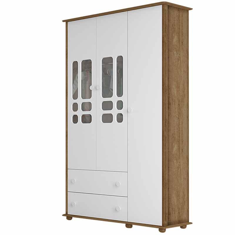 Guarda Roupa Inovare 3 Portas Matic Cor Branco Teka Touch