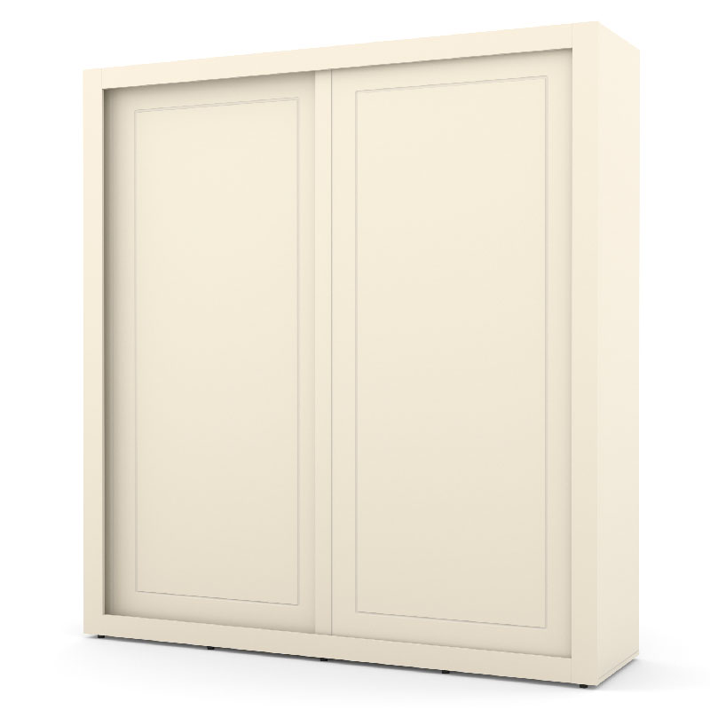 Guarda Roupa Tutto New 2 Portas Deslizantes Cor Off White