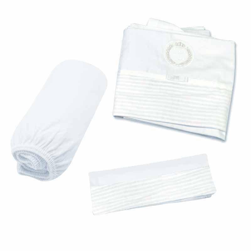 Jogo de lençol para berço Clássico Classic for Baby Branca