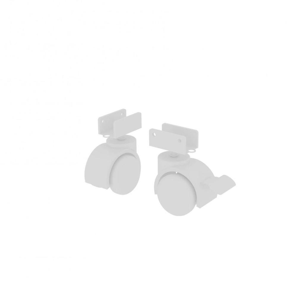 Kit 4 Rodízio para Berço Espessura de 15 mm Cor Branco
