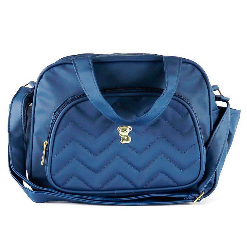 Kit Bolsa Maternidade Bordada Azul Marinho Cor Azul Marinho
