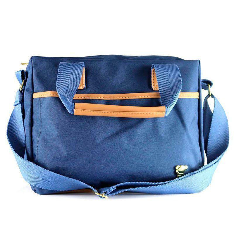 Kit Bolsa Maternidade Oxford Azul Marinho Cor Azul Marinho