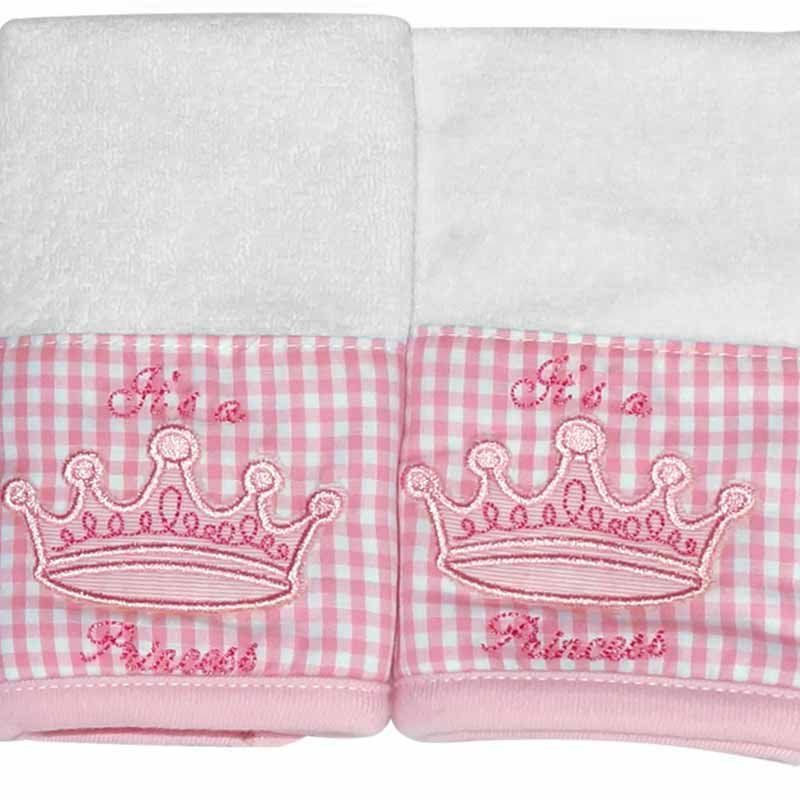 Kit com 2 fraldinhas de boca atoalhado Its a Girl Classic for Baby Cor Rosa