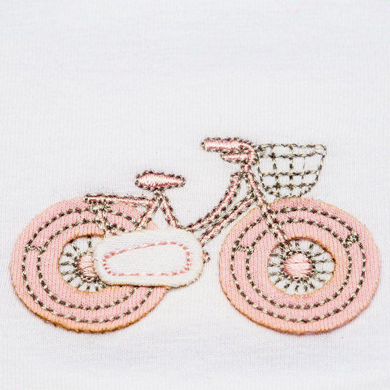 Kit Fraldinha de Boca Atoalhado Bicicletinha Classic for Baby Cor Rosa