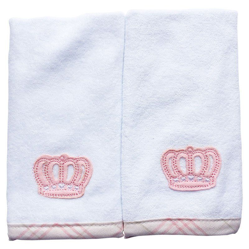 Kit Fraldinha de Boca Atoalhado Lovely Princess Classic for Baby Cor Rosa