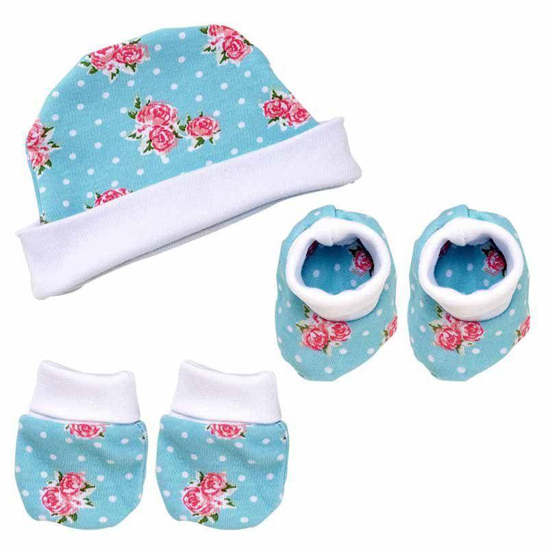 Kit Inverno para Bebê com touca, luva e sapatinho Primavera Hug Baby